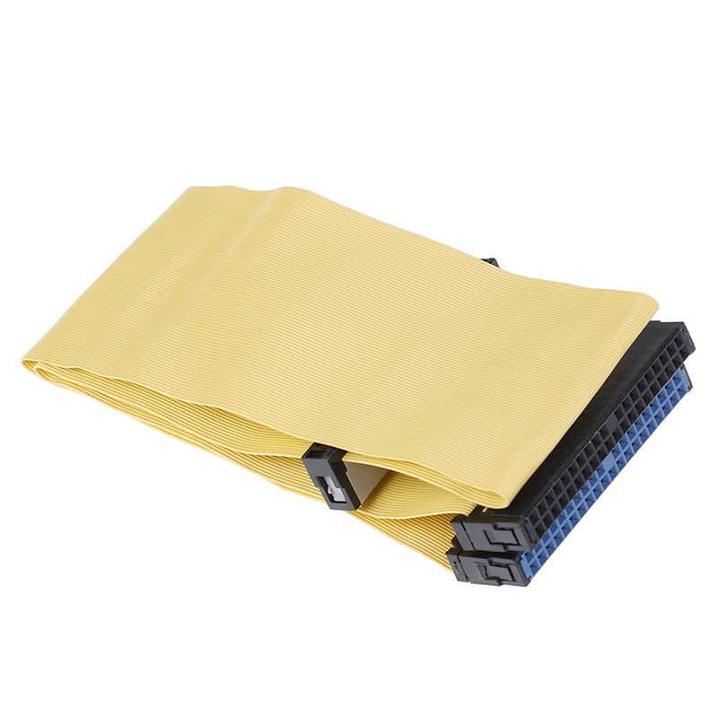 40 دبابيس 80 سلك PATA/EIDE/IDE القرص الصلب DVD الشريط كابل أصفر 40 سنتيمتر لأجهزة مزدوجة الاتصالات أجزاء