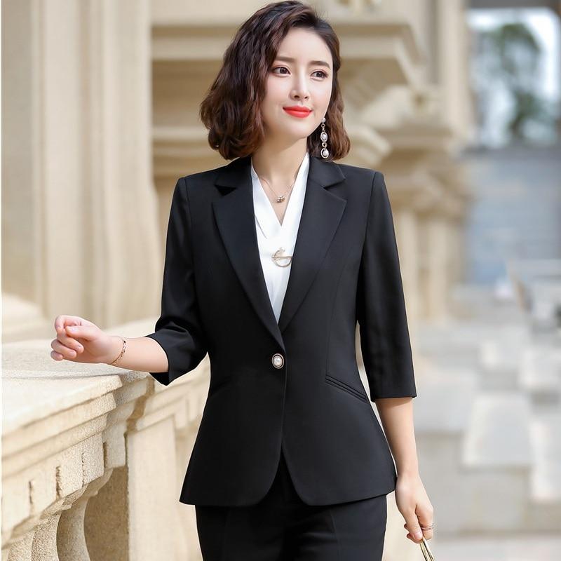Spring Summer Ladies Pink Blazer Women Jackets Half Sleeve Clothes Female Elegant Formal Office Work Wear OL Style Plus Size 5XL
