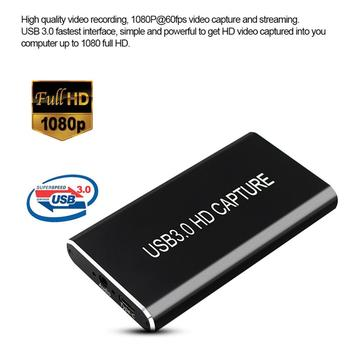 USB 3.0 Video Capture HDMI to USB Type C 1080P HD Video Capture Card Video Grabber Record Box for PS4 Game Live Streaming PC TV
