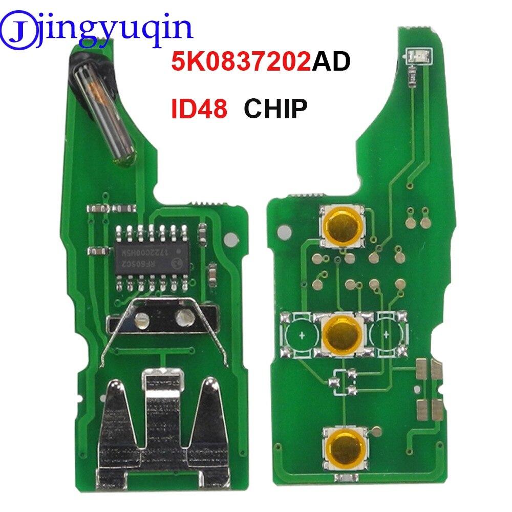 Jingyuqin 5K0837202AD ID48 لوحة إلكترونية للدائرة الرئيسية عن بعد لشركة فولكس فاجن بيتل/العلبة/Eos/Golf/جيتا/بولو/شيروكو/تيجوان/توران/UP
