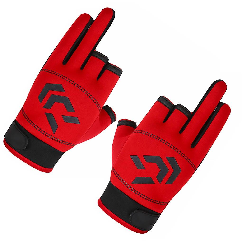 1 пара мужские перчатки для рыбалки Зимние противоскользящие