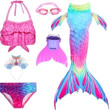 子供マーメイドテールビキニ女の子人魚コスプレ衣装フィン水着人魚の尾衣類水着