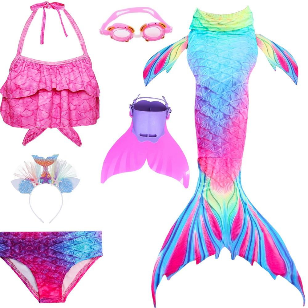 Kids Mermaid Tail Swimsuit Girls Bikini Girls Mermaid Cosplay Costume with Fin Swimsuit Mermaid Tails Clothing Swimwear