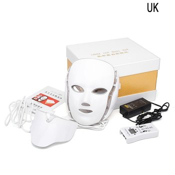 Beauty Therapy Machine With Collar LED Facial Mask Light Skin Care Tool Wrinkle Acne Removal Beauty Spa Instrument