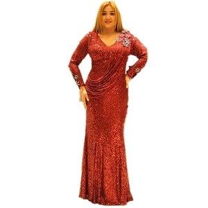 Image 1 - שמלות אפריקאיות נשים אפריקה בגדים מוסלמי ארוך שמלה באיכות גבוהה אופנה אפריקאית שמלה עבור גברת