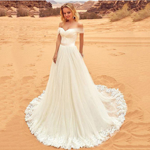 Luxury Wedding Dress Off The Shoulder A line Lace Appliques Sexy Bride Dresses Custom made Long women Wedding Gowns Plus Size plus size sexy off the shoulder boat neck wedding dress long sleeves appliques lace wedding gowns boho bride dress