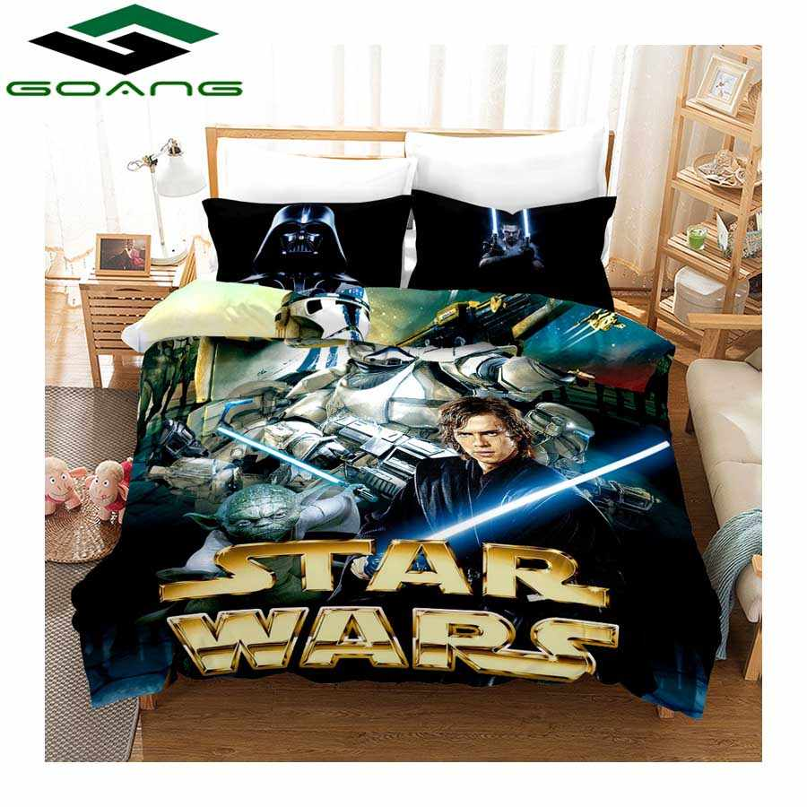 GOANG bedding 3d digital printing Star Wars bed sheet duvet cover and pillowcase luxury bedding sets home textiles Hot sales