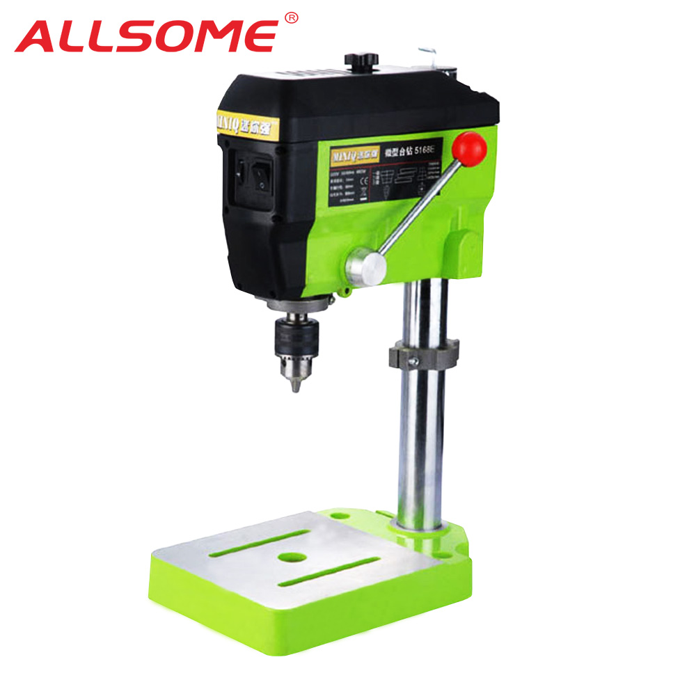 ALLSOME MINIQ Mini Drilling Press 220V 680W Electric Milling Machine Variable Speed Drill Machine Grinder For DIY Power Tools BG