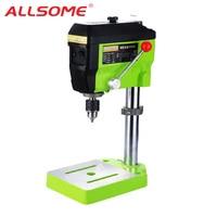 ALLSOME MINIQ Mini Drilling Press 220V 680W Electric Milling Machine Variable Speed Drill Machine Grinder For DIY Power Tools BG