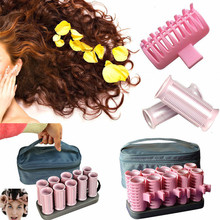 10 PCS/Set Hair Rollers Electric Tube Heated Roller Hair Curly Styling Sticks Tools Massage Roller Curlers Accessories DIY Tool цена