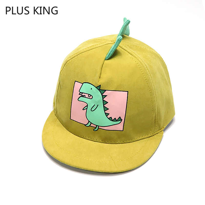 Nuovo Dinosauro Del Fumetto Del Berretto Da Baseball Del Bambino Delle Ragazze del Ragazzo Hip Hop Cappelli Nero Rosa Giallo Blu Khaki Dei Bambini Del Cappello