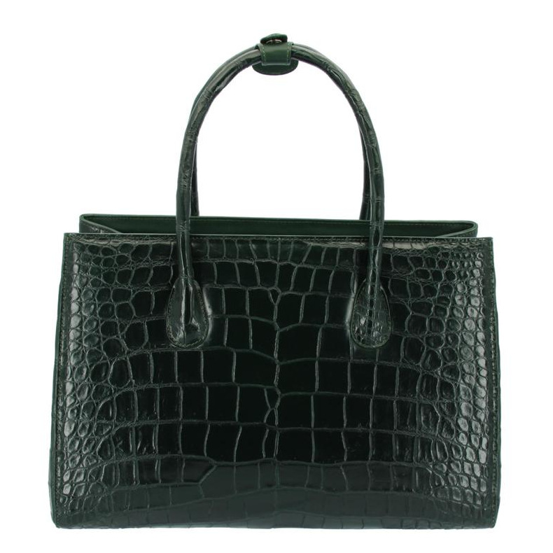 portátil bolsa de couro de crocodilo
