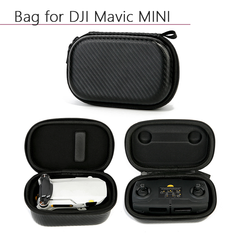 Portable Waterproof PU Nylon Storage Bag Carrying Case Protective Remote Controller Bag for DJI Mavic Mini Drone Accessories