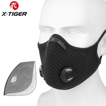 X-TIGER Cycling Face Mask PM 2.5 Bike Mask Activated Carbon Breathing Valve Sports Masks With Anti-Pollution Filter 19