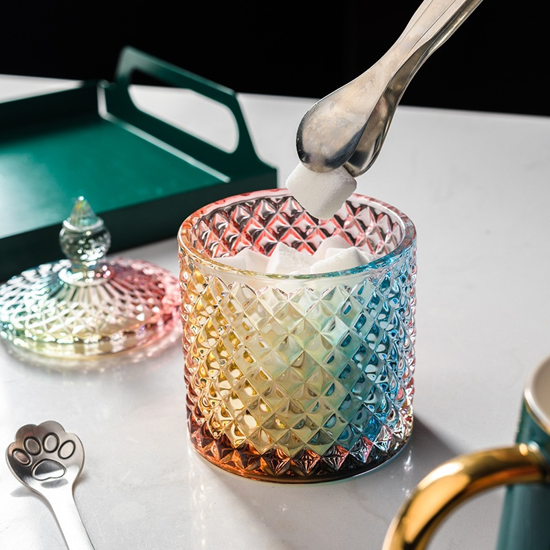 Estilo europeu colorido frasco de vidro doces