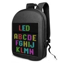 Tela de exibição led dinâmica mochila andando publicidade luz saco sem fio wi fi app controle mochilas ao ar livre das mulheres dos homens