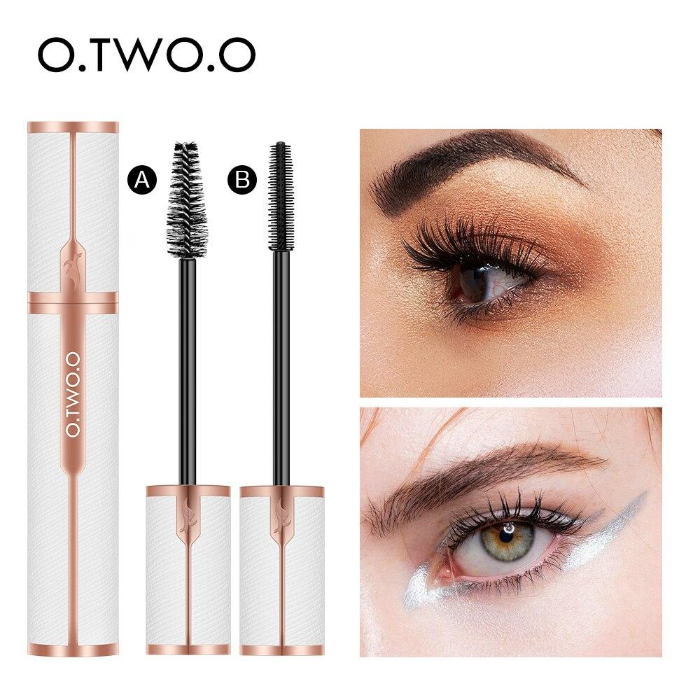 O.TWO.O Mascara Waterproof 4D Silk Fiber Curling Volume Lashes Thick Lengthening  Nourish Eyelash Extension High Quality Makeup