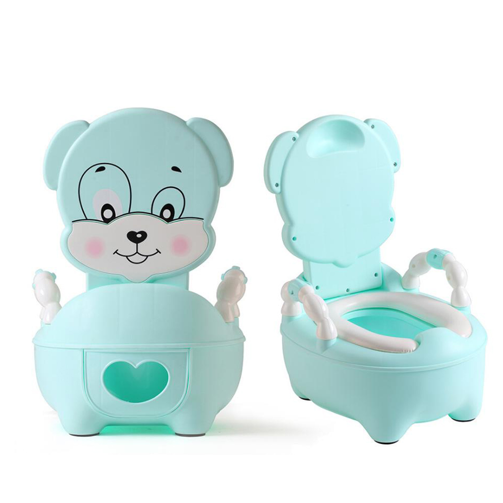 Baby Pot Portable Infant Road Pot Toilet Seat Folding Cute Animal Children's Potty With Soft Pad Portable Baby Potty Training