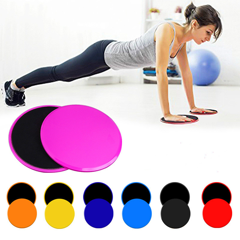 2pcs Gliding Discs Slider Fitness Disc Exercise Sliding Plate Abdominal Core Muscle Training Yoga Sliding Disc Fitness Equipment