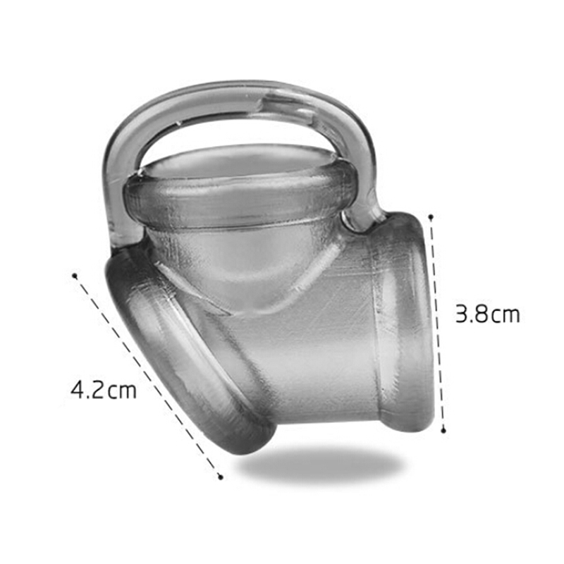 Anillo de escroto para hombre, cinturón de castidad, anillo para pene, Juguetes sexuales, soporte para pene