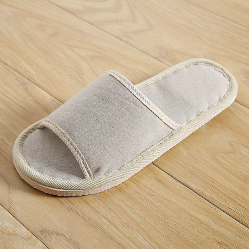 Natural Flax Home Slippers Indoor Floor Shoes Silent Sweat Slippers For Summer Women Sandals Slippers 37-43 3