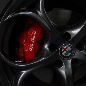 4PCS High Quality Reflective Car Sticker Car Caliper Sticker For ALFA ROMEO Brera 147 156 166 159 GT Spider Giulietta Stelvio