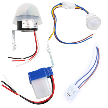 Automatic Lamp Photocell Light Controller Photoswitch PIR Sensor Detector Switch Sound 220v Home Improvement Outdoor Lighting - discount item  10% OFF Electrical Equipment & Supplies