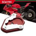 Для ducati 848 1098 1198 DUCATI 1098 1198 Ducati 1098 все годы мотоциклетные боковая подставка пластина подставка удлинитель увеличитель