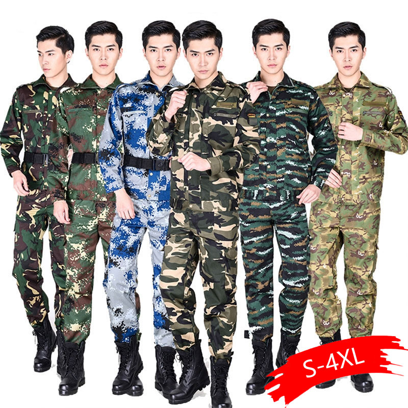 Military Tactical Uniform Combat Army Clothes Men Camouflage Special Forces Soldier Training Militar Wear Clothing Pant Set image