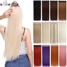 """S-nolilite 42 цвета 2"""" 24"""" 2"""" 30"""" Длинные прямые 5 клипсов в одной части волос удлиняющие синтетические наращенные волосы шиньон для женщин"""