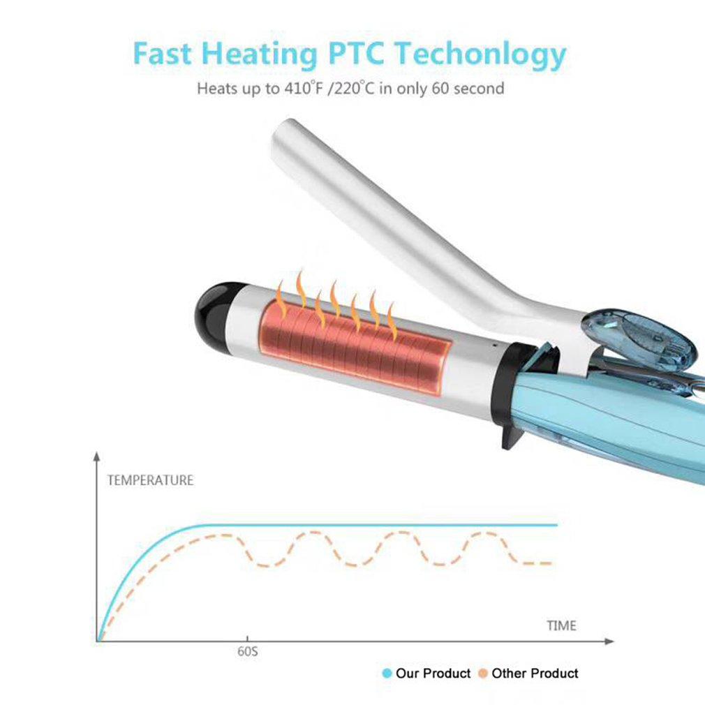 Steam Curler Spray Curling Stick Ceramic Cool Mist Hair Curler Adjustable Temperature Ceramic Steam Hair Curling Iron