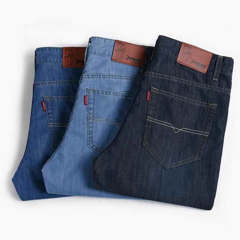2017 Summer Thin Section Men's Business Casual Jeans Men Youth Slim Fit Straight-Cut Long Pants Men's Trousers Men'S Wear