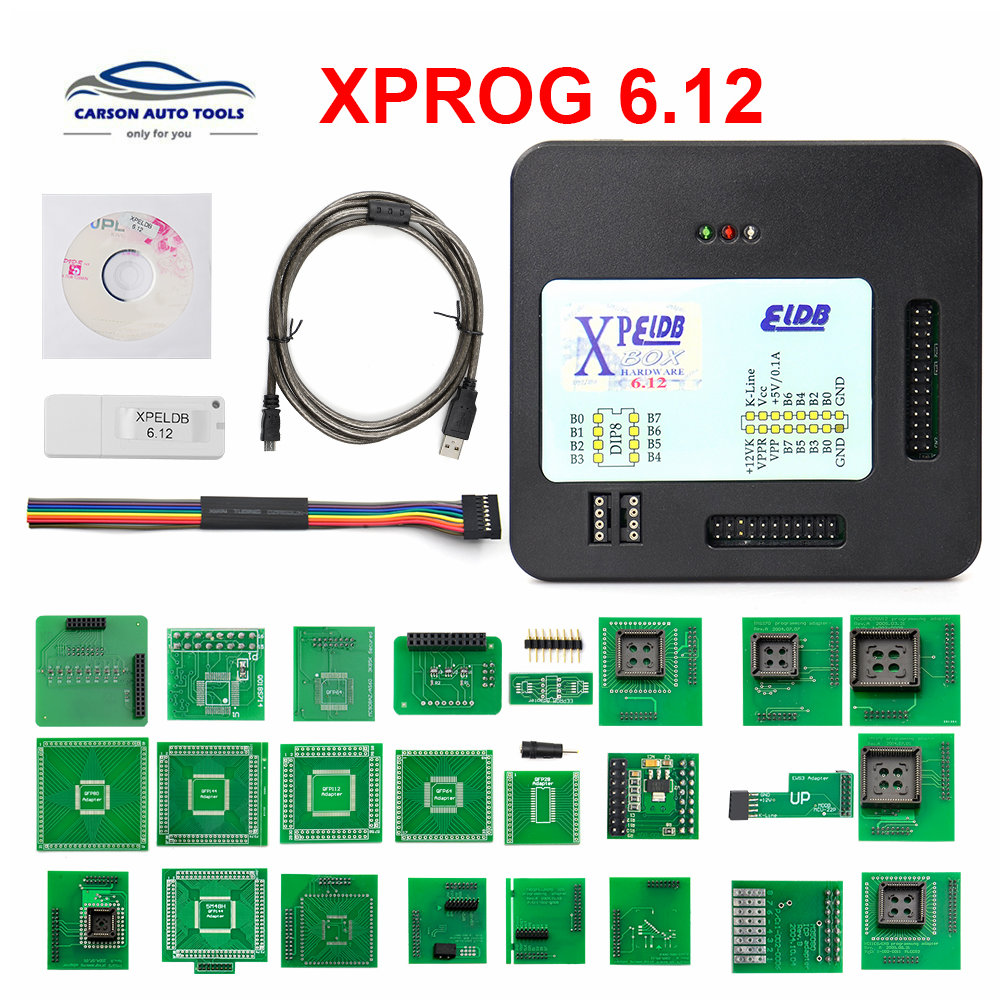 <font><b>Xprog</b></font> v6.12 X PROG 6.12 ECU <font><b>programmer</b></font> EEPROM adapter <font><b>XPROG</b></font>-M ECU <font><b>programmer</b></font> and USB dongle image