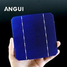 Células solares mono baratas 5x5 grau a, células de células solares 100 w 2.8x125mm com 10 40 50 125 peças �� pv diy painel solar fotovoltaico c60
