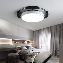 Master bedroom light simple modern creative Nordic style black and white ceiling lamp LED remote control dimming living room lig