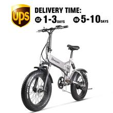 Electric Bicycle Bike Mountain-Bike Fat-Tire Folding Beach-Cruiser MX21 500W4.0 48v Mens