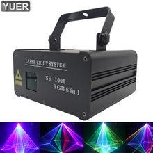 Дискотечный светильник 1 Вт rgb 6в1 анимационный лазерный прожектор