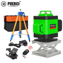 PUERCI 16 Lines 4D Laser Level Level Self-Leveling 360 Horizontal And Vertical Cross Super Powerful Green Laser Level