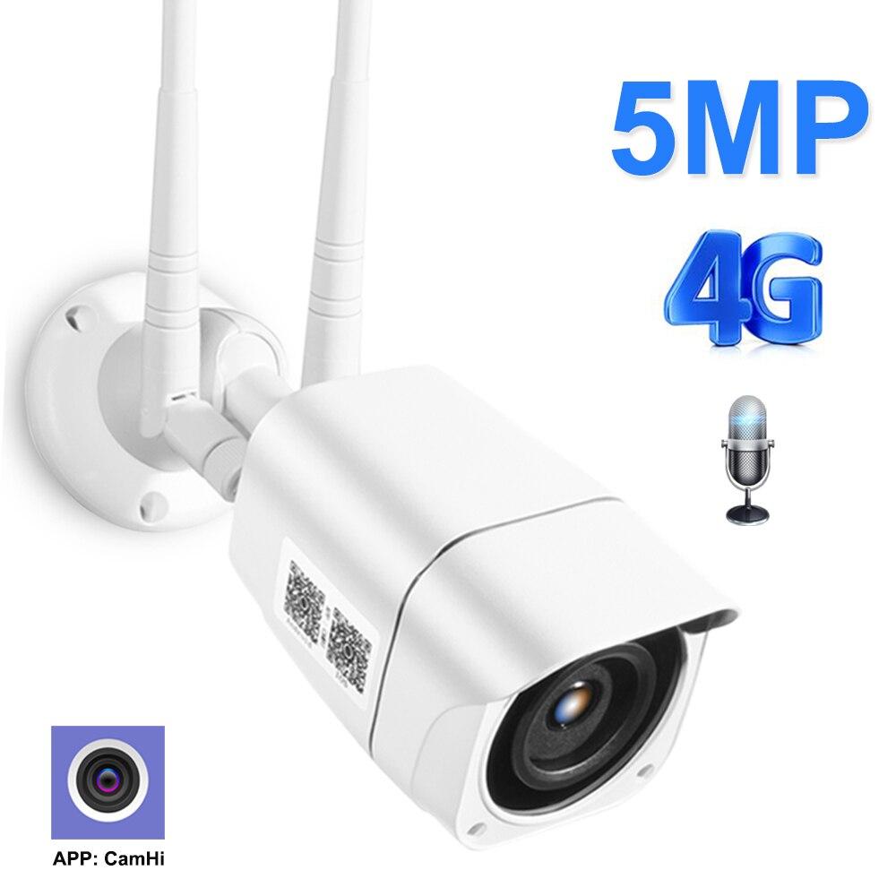 ZILNK 4G SIM tarjeta IP Cámara 1080P 5MP HD inalámbrico WIFI seguridad exterior bala cámara CCTV Metal P2P Onvif Audio bidireccional Camhi