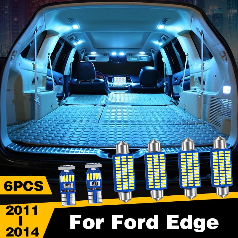 6 pièces voiture LED lumières intérieur dôme lecture coffre lampe pour Ford Edge 2011 2012 2013 2014 accessoires |
