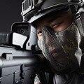 Outdoor Radfahren stahl draht maske Half gesicht für Airsoft tactical military Zubehör CY01-in Fahrradgesichtsmaske aus Sport und Unterhaltung bei