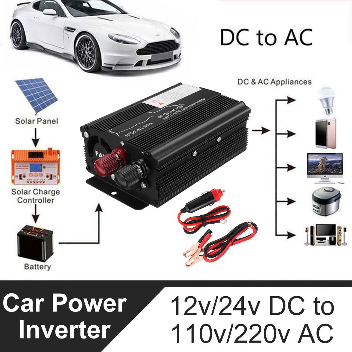 Inverter 12V 220V 3000W Spannung Konverter Transformator DC 12 V/24 V Zu AC 220V solar Power Inverter LCD Display Für Auto, lkw