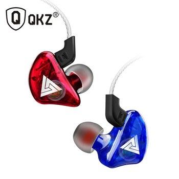 QKZ CK5-auriculares con cable estéreo para deportes de carreras, auriculares internos de graves pesados, auriculares transparentes para teléfono móvil, auriculares para música con micrófono