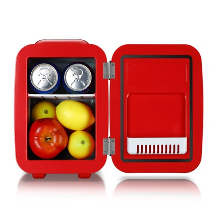 Mini Fridge 4L Electric Cooler And Warmer :AC / DC Portable Thermoelectric System,For Car /Indoor /Outdoor Fridge
