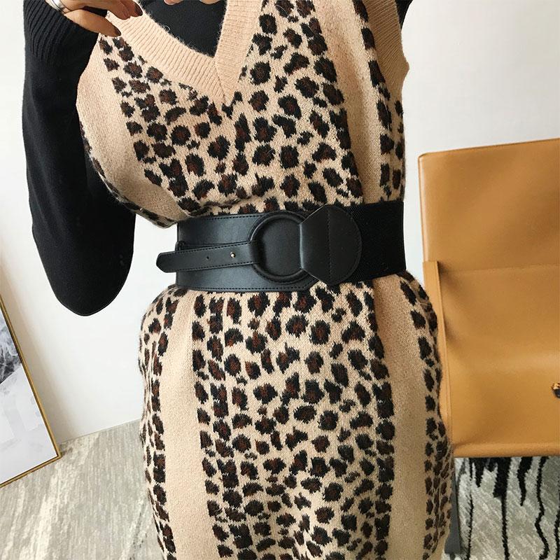 Women Fashion Pu Leather Waist Belt Winter Autumn Sweater Windbreaker Decoration New Clothing Accessories Female Wide Belt