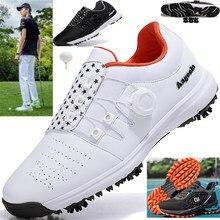 R.XJIAN marque 2020 hommes Golf chaussures de haute qualité chaussures de sport imperméables boucles rotatives baskets antidérapantes multifonctionnel Golf