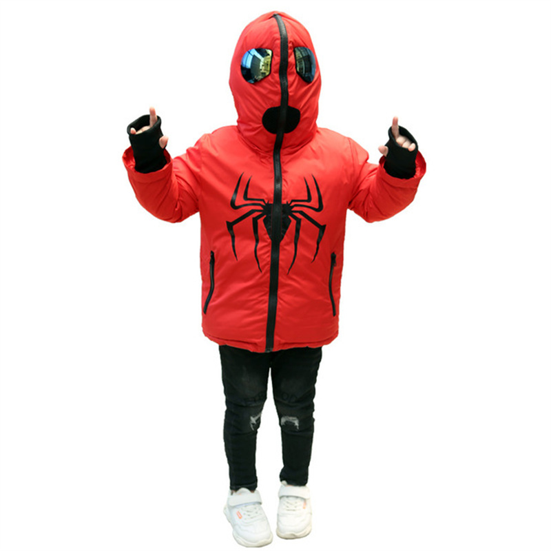 Baseball-Uniform Down-Jacket Spiderman Baby-Boy Boys Winter Children Warm Cartoon Thicken