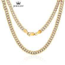 18K זהב טהור שרשרת אמיתי AU 750 מוצק זהב שרשרת גברים של פשוט אופנתיים יוקרתיים קלאסי מפלגה תכשיטים חם למכור חדש 2020