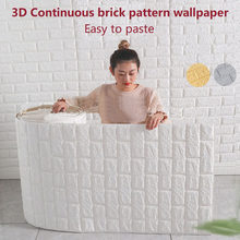 70cm*1m 3D Self-adhesive Continuous Wall Sticker Waterproof Brick Pattern Wallpaper Bedroom DIY Wall stickers Home Decoration