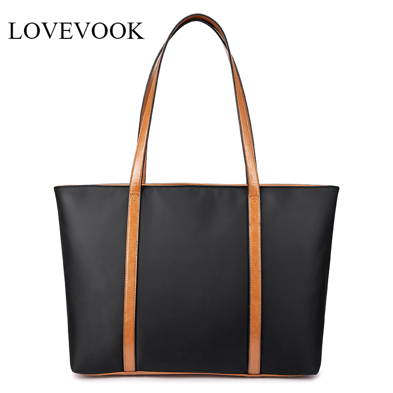 Lovevook Large Capacity Shoulder Bags Women Handbags High Quality Waterproof Oxford Causal Totes For Ladies Minimalist Tote Bags